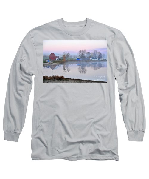 Still Waters On Stoneledge Lake Long Sleeve T-Shirt