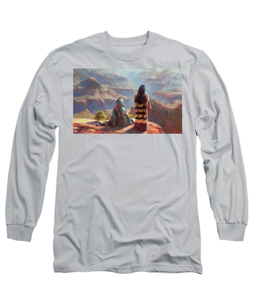 Long Sleeve T-Shirt featuring the painting Stillness by Steve Henderson