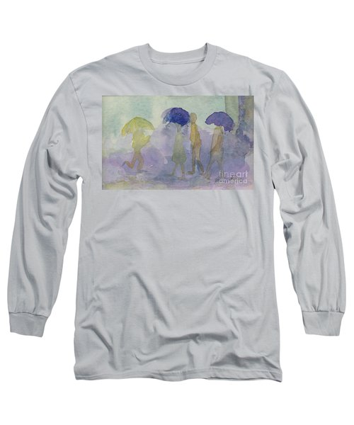 Stomping In The Rain Long Sleeve T-Shirt by Vicki  Housel