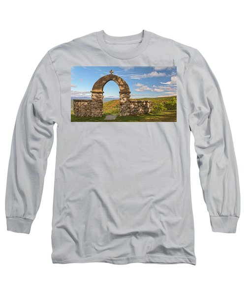 Stone Church In Autumn Long Sleeve T-Shirt