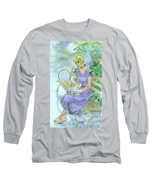 Long Sleeve T-Shirt featuring the painting Stood Up by P J Lewis