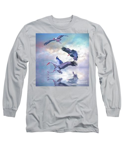 Storks Landing Long Sleeve T-Shirt by Brian Tarr