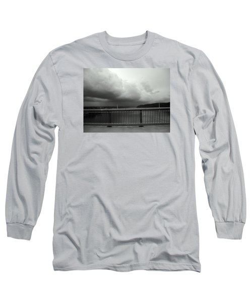 Long Sleeve T-Shirt featuring the photograph Storm Clouds On The Hudson by Bruce Carpenter