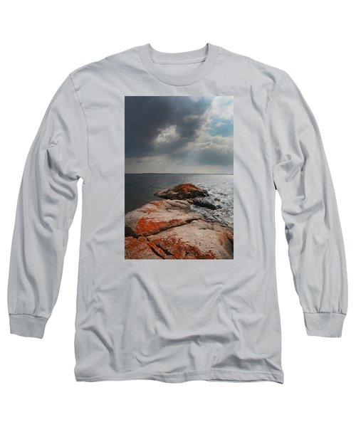 Storm Clouds Over Wall Island Long Sleeve T-Shirt