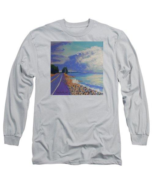 Storm Over Queensland Beach Long Sleeve T-Shirt