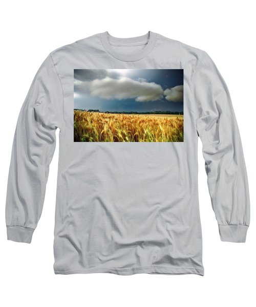 Storm Over Ripening Wheat Long Sleeve T-Shirt