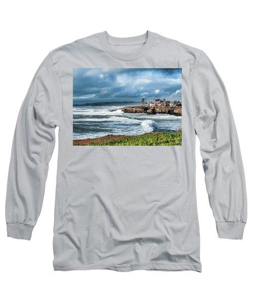 Storm Wave At Sunset Cliffs Long Sleeve T-Shirt