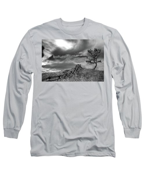 Stormy Sky At The Ranch Long Sleeve T-Shirt