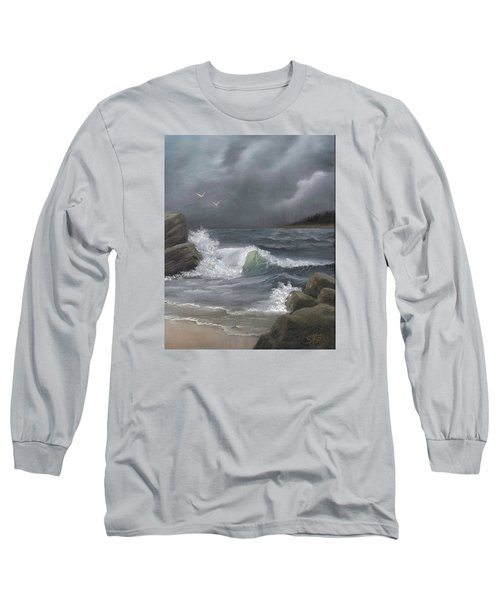 Stormy Waters Long Sleeve T-Shirt by Sheri Keith