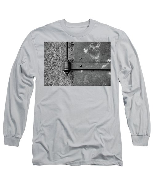 Long Sleeve T-Shirt featuring the photograph Straight Metal by Karol Livote