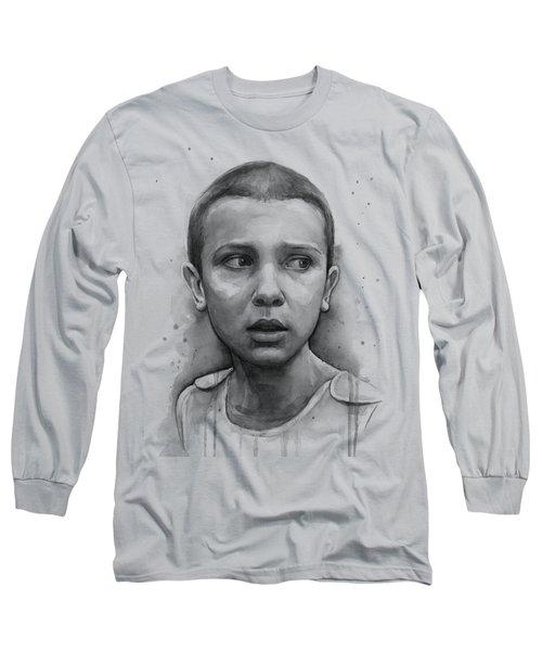 Stranger Things Eleven Upside Down Art Portrait Long Sleeve T-Shirt
