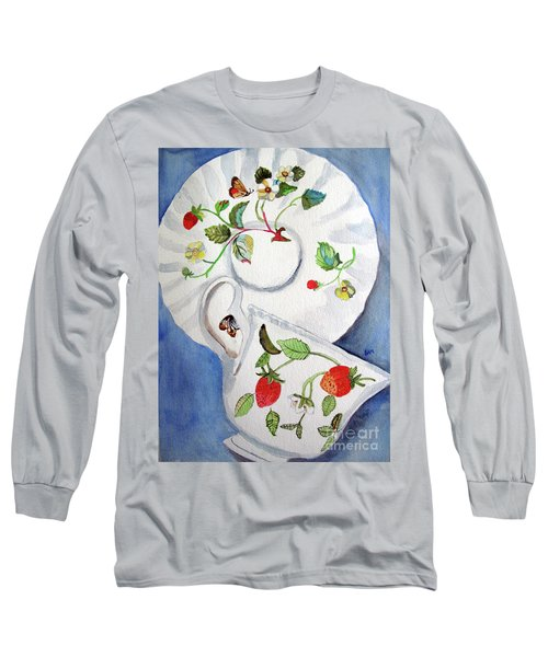 Strawberry Cup And Saucer Long Sleeve T-Shirt