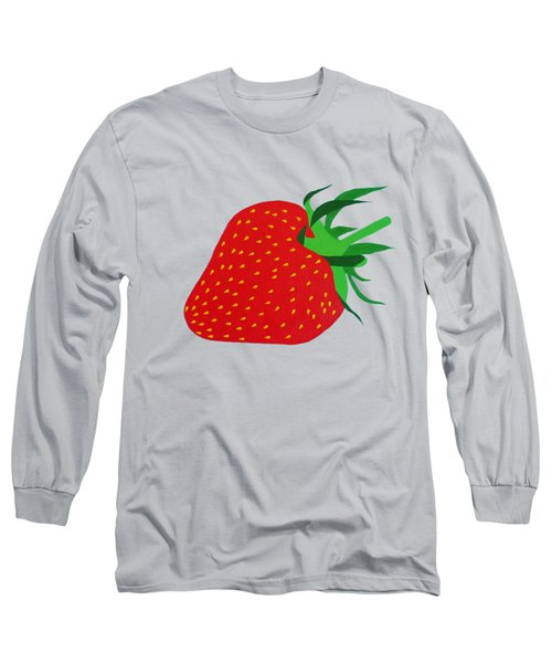 Strawberry Pop Remix Long Sleeve T-Shirt by Oliver Johnston