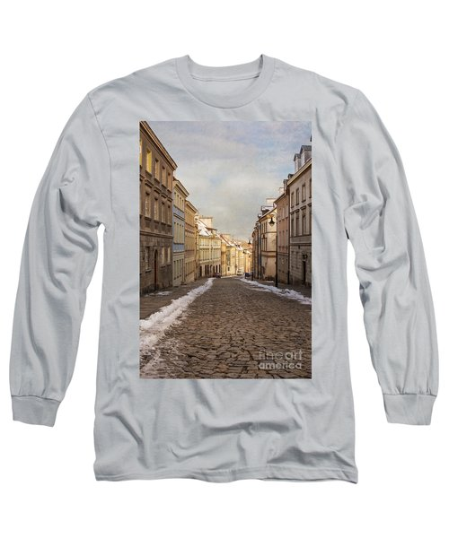 Long Sleeve T-Shirt featuring the photograph Street In Warsaw, Poland by Juli Scalzi