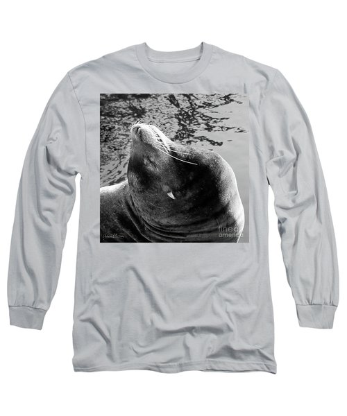 Stretch, Black And White Long Sleeve T-Shirt