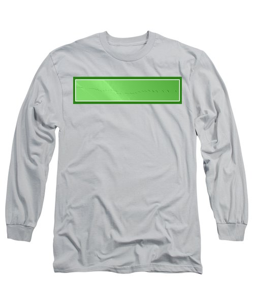 String Of Birds In Green Long Sleeve T-Shirt