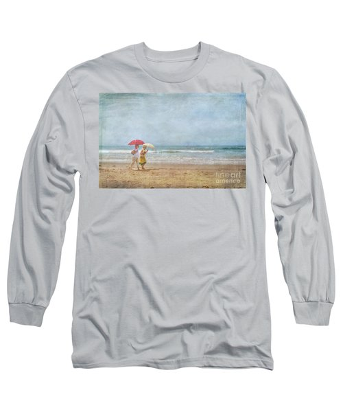 Long Sleeve T-Shirt featuring the photograph Strolling On The Beach by David Zanzinger