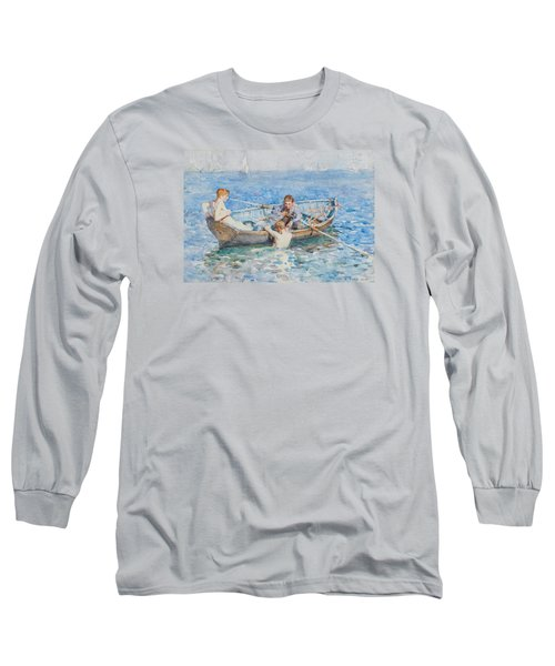 Study For August Blue Long Sleeve T-Shirt