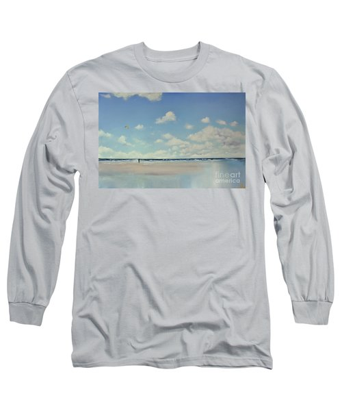 Long Sleeve T-Shirt featuring the painting Study Of Blue Nr 1 by Maja Sokolowska