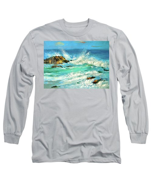 Study Wave Long Sleeve T-Shirt by Dmitry Spiros