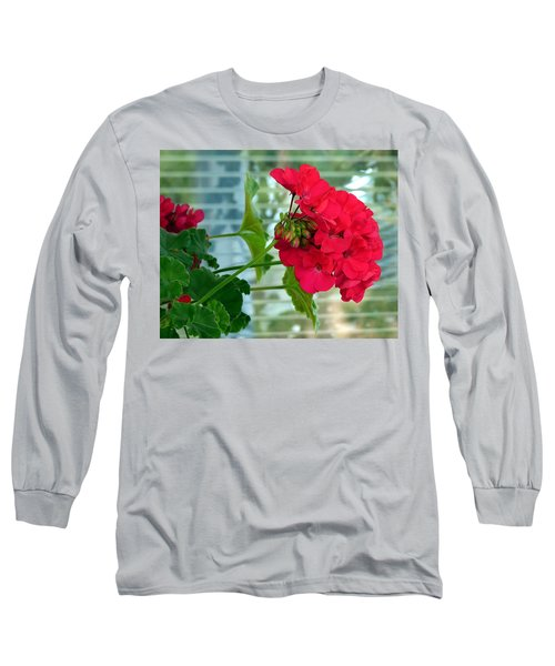 Stunning Red Geranium Long Sleeve T-Shirt