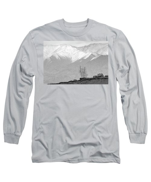 Stupa And Trees Long Sleeve T-Shirt