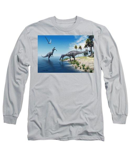 Suchomimus Dinosaurs Long Sleeve T-Shirt