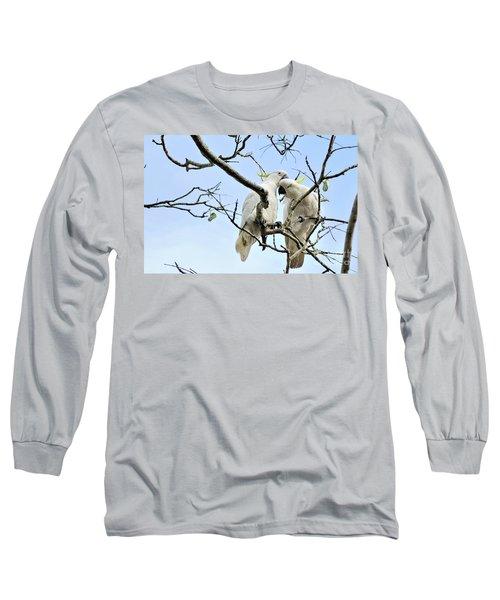 Sulphur Crested Cockatoos Long Sleeve T-Shirt
