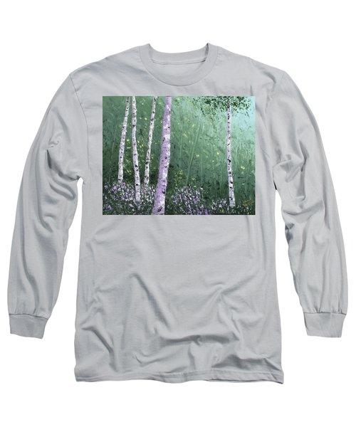 Summer Birch Trees Long Sleeve T-Shirt