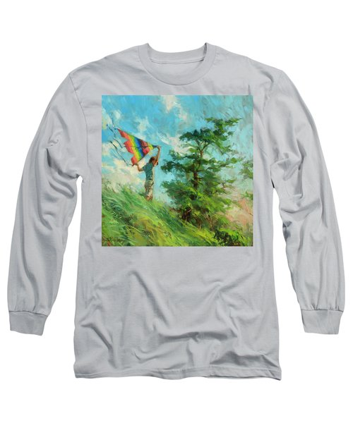 Long Sleeve T-Shirt featuring the painting Summer Breeze by Steve Henderson