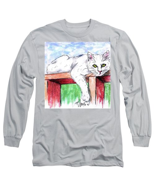 Summer Cat Long Sleeve T-Shirt by P J Lewis