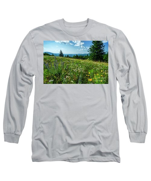 Summer Flowers In The Highlands Long Sleeve T-Shirt