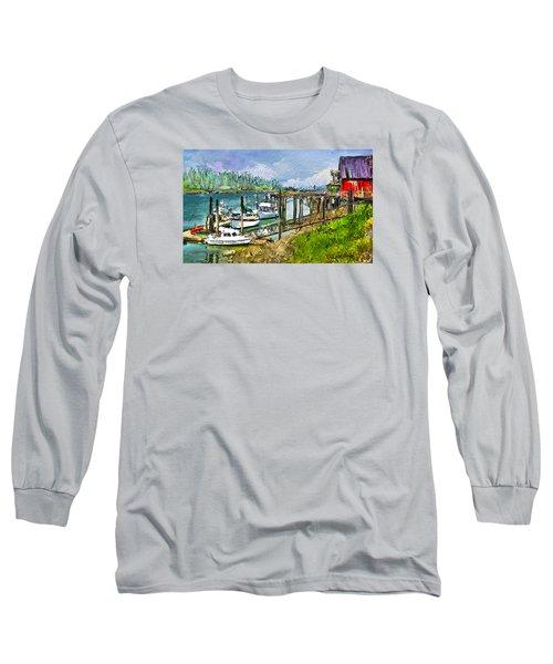 Long Sleeve T-Shirt featuring the digital art Summer In La'conner by Dale Stillman