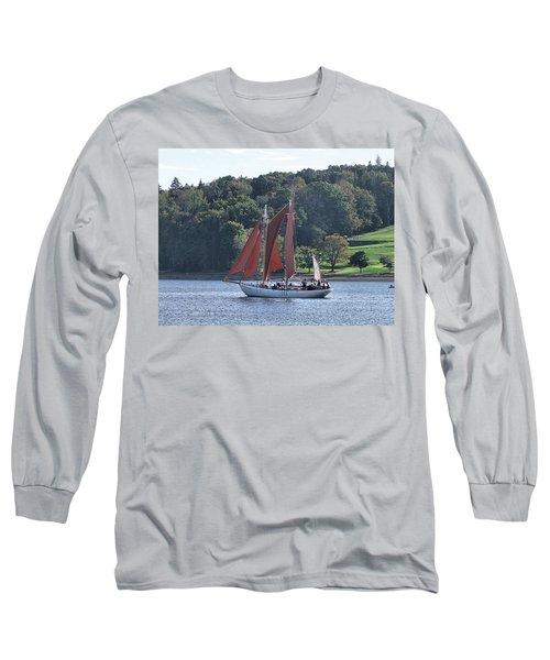 Summer Sailing In Lunenburg Long Sleeve T-Shirt