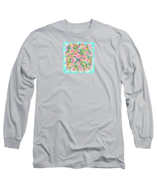 Long Sleeve T-Shirt featuring the painting Summer Scarf by Jean Pacheco Ravinski