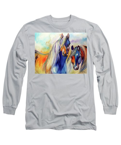Sun And Shadow Equine Abstract Long Sleeve T-Shirt