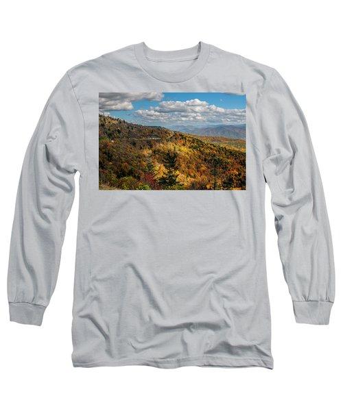 Sun Dappled Mountains Long Sleeve T-Shirt