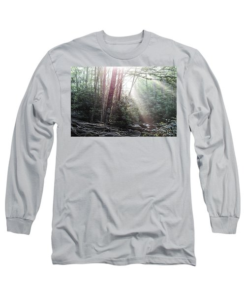 Sunbeam Streaming Into The Forest Long Sleeve T-Shirt