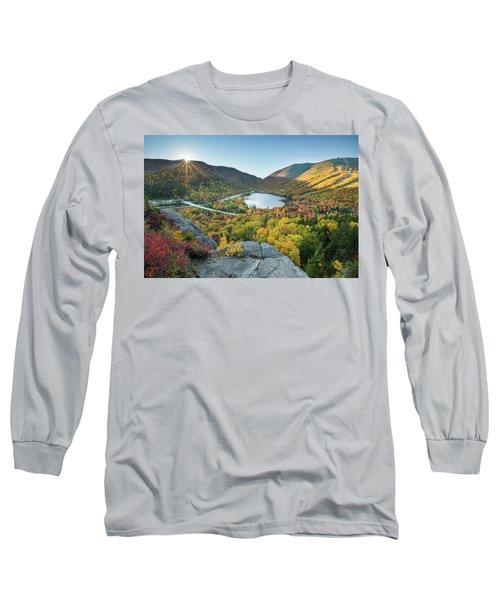 Sunburst Over Franconia Notch Long Sleeve T-Shirt