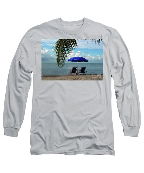 Sunday Morning At The Beach In Key West Long Sleeve T-Shirt by Susanne Van Hulst