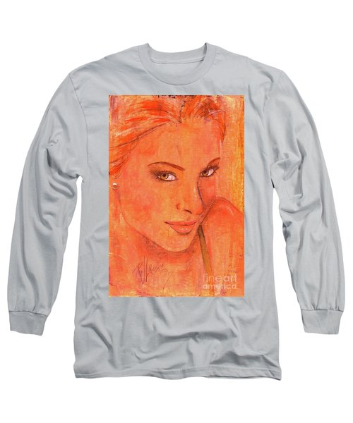 Long Sleeve T-Shirt featuring the painting Sunday by P J Lewis
