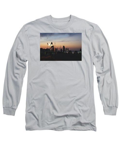 Sundown At The Harbor Long Sleeve T-Shirt by Margie Avellino