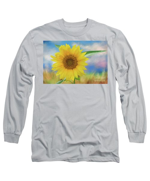 Sunflower Surprise Long Sleeve T-Shirt by Bonnie Barry