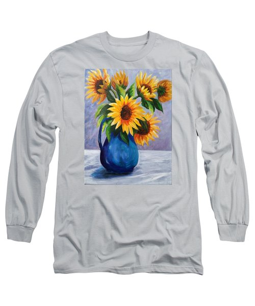 Sunflowers In Bloom Long Sleeve T-Shirt