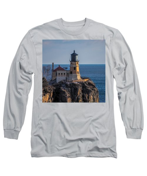 Sunlight On Split Rock Lighthouse Long Sleeve T-Shirt by Paul Freidlund
