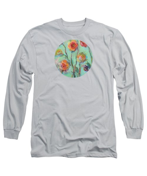 Long Sleeve T-Shirt featuring the painting Sunlit Garden by Mary Wolf