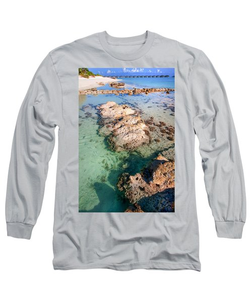 Long Sleeve T-Shirt featuring the photograph Sunny Day At Maldivian Resort by Jenny Rainbow