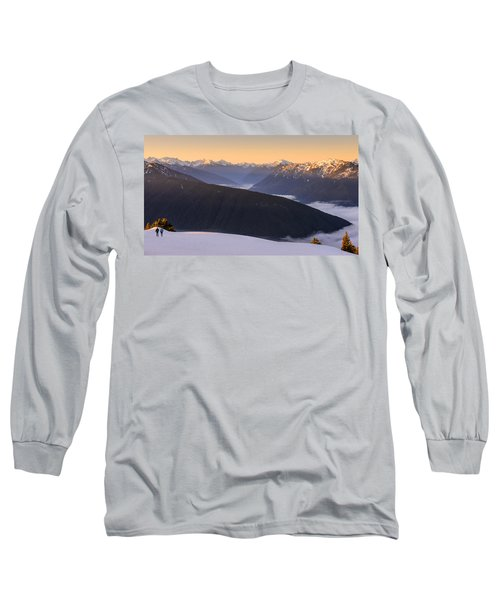 Sunrise Above The Clouds Long Sleeve T-Shirt by Dan Mihai
