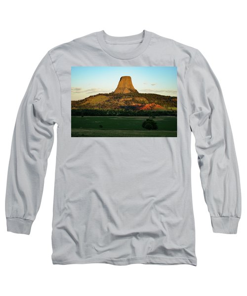 Long Sleeve T-Shirt featuring the photograph Sunrise At Devils Tower by Bill Gabbert