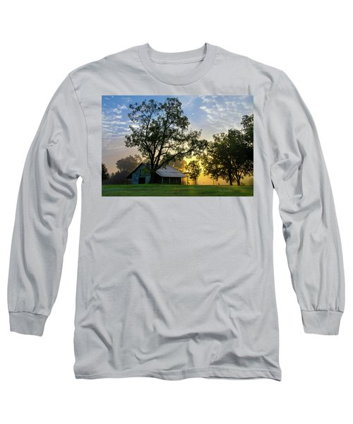 Long Sleeve T-Shirt featuring the photograph Sunrise At The Farm by George Randy Bass